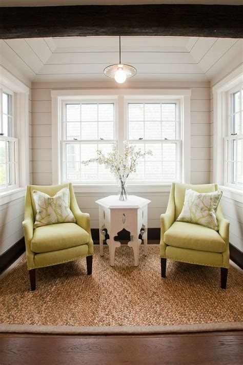 small sitting area   kitchen   lime green