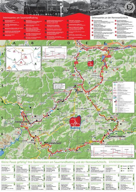 Karte zum SauerlandRadring by Schmallenberger Sauerland ...