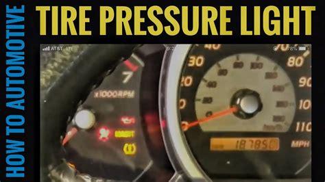 Tire Pressure Light Blinking by 2004 Toyota 4runner Maintenance Light