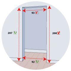 dimension cadre de porte standard een binnendeur plaatsen planit