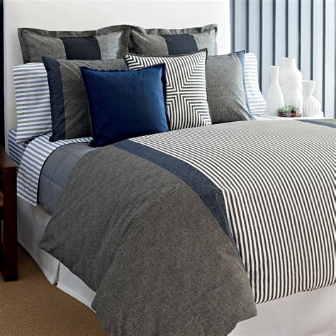 tommy hilfiger country chic stripe comforter and duvet