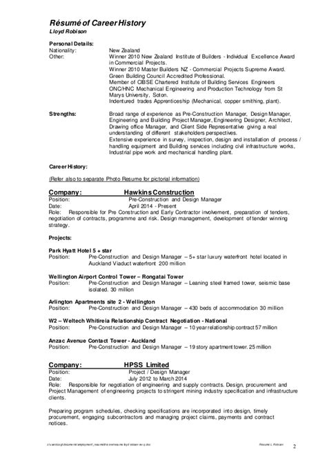 Hl7 Resume by Building Construction Management Resume