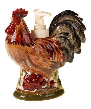 zulilyfind rooster soap dispenser