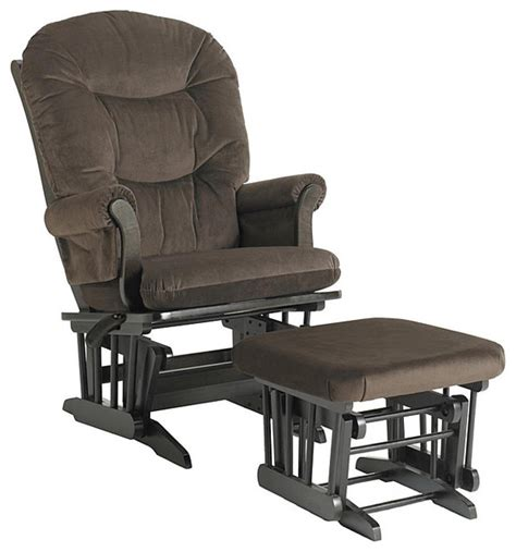 glider recliner with ottoman dutailier ultramotion hardwood reclining glider and