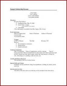 resume for college scholarships great resumes part 10