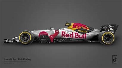 Bull Livery Honda Racing Concept F1 Wallpapers