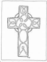 Cross Coloring Patrick St Sheets Pages Printable Saint Patricks Adults Adron Mr Template sketch template