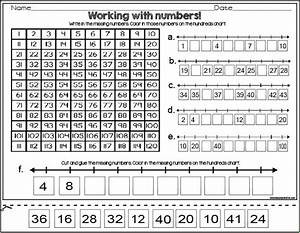 Subtraction Using Hundreds Chart Worksheet Number Lines And Hundreds Charts Classroom Freebies