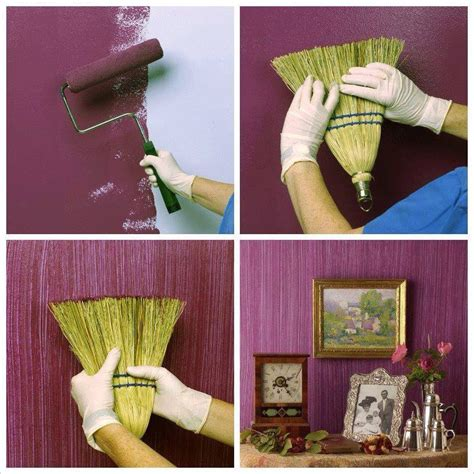 Make A Textured Painted Wall With A Broom