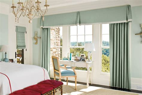 Mixed Styles-bedroom Window Treatments-southern Living