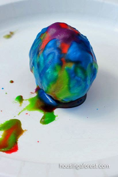 science experiment  dye  easter eggs kids