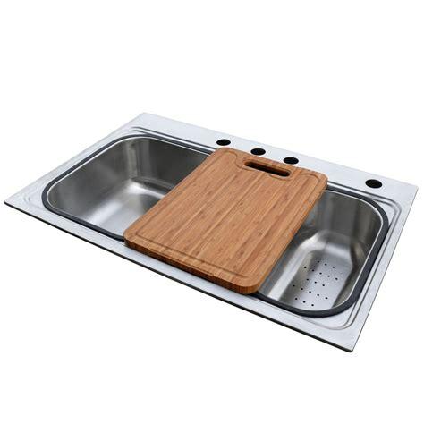 single basin drop in kitchen sink shop american standard single basin drop in stainless