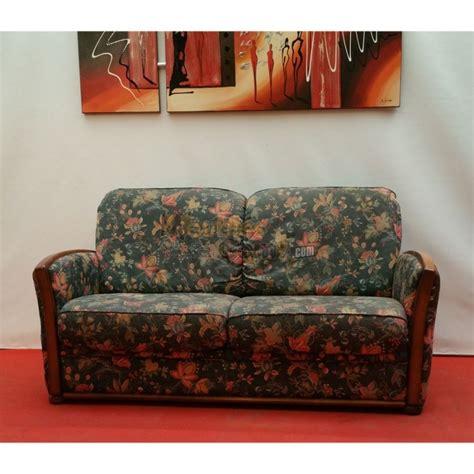 canape en bois et tissu canapé bois et tissu fleuri 2 places n125