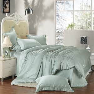 solid light green colored full queen size bedding sets
