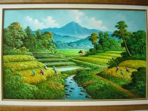 gambar keren gambar lukisan pemandangan