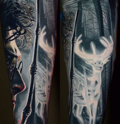 harry potter tattoo sleeve  give  goosebumps