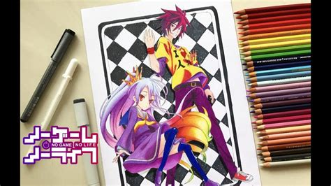 Speed Drawing Shiro & Sora (No Game No Life) HD YouTube