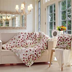 Country, Floral, Cotton, Square, Red, Throw, Pillows, For, Couch
