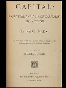 Capital: A Critical Analysis of Capitalist Production ...