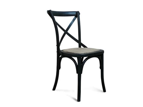 barossa oak cross  dining chair black living elements