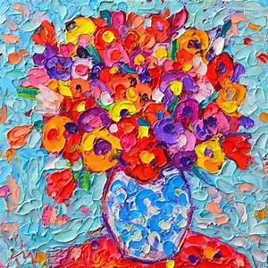 Colorful Wildflowers - Abstract Floral Art By Ana Maria