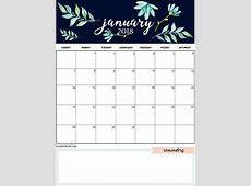 Cute and Crafty Monthly Calendar 2018 Latest Calendar