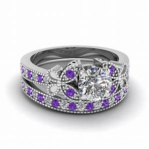 artistic purple engagement rings at reasonable price in With reasonably priced wedding ring sets
