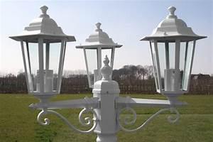 Lampadaire 3 Tetes : lampadaire blanc aluminium ext rieur 3 t tes ~ Teatrodelosmanantiales.com Idées de Décoration