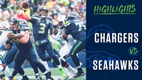 week  seahawks  chargers highlights