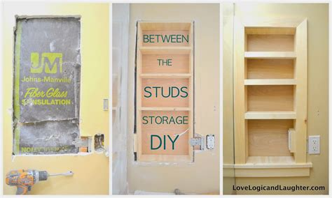 between the studs storage a tutorialusing stair tread nosing as finishing trim built in