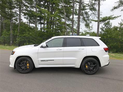 trackhawk jeep white 2018 jeep grand cherokee trackhawk test drive review