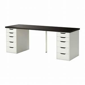 Ikea Tisch Weiß Glas : linnmon alex tisch schwarzbraun wei ikea ~ Bigdaddyawards.com Haus und Dekorationen
