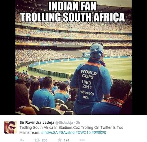 Funny South African Memes - what are some best tweets and reactions on india v s south africa match in world cup 2015