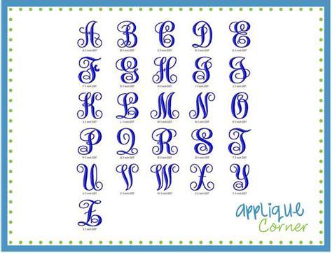 applique corner elegant monogram font jumbo