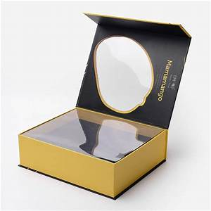 die cut magnetic closure gift box with colorful printing