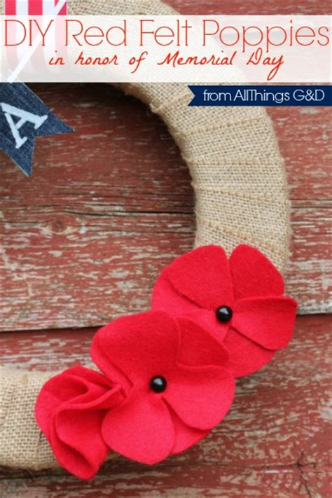 diy felt poppies memorial day poppies   gd