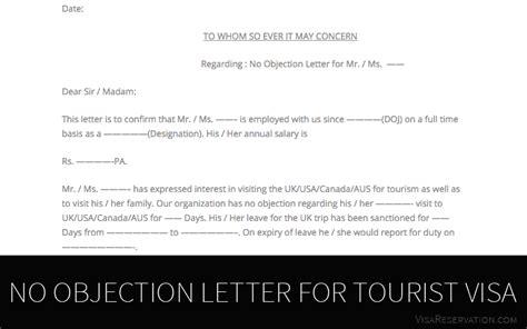 ultimate guide   objection letter  tourist visa