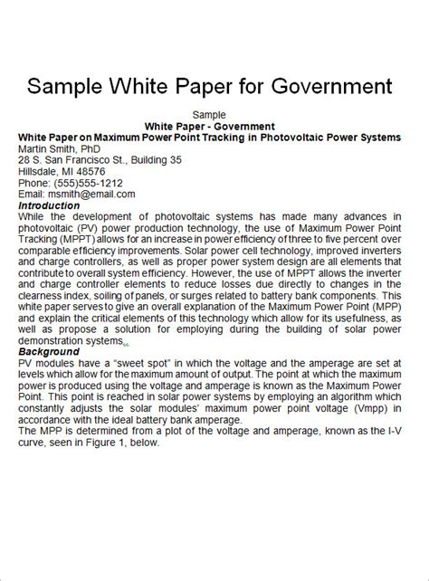 white paper templates   documents  word