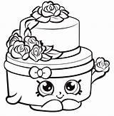 Hopkins Cake Coloring Shopkins раскраски из категории все sketch template