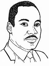 Luther Martin Jr King Coloring Pages Sheets Mlk Drawing Dr Sheet Junior Printable Easy Clipart Realistic Drawings History Portrait Template sketch template