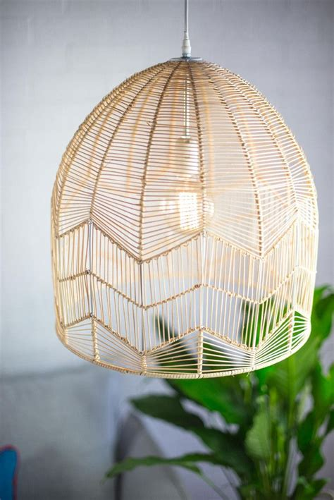lace rattan pendant natural rattan pendant light