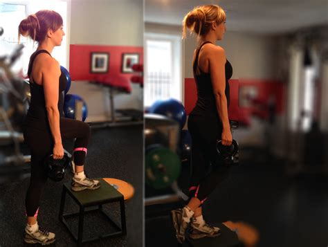kettlebell step fitness exercises female