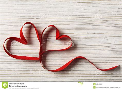 Two Hearts On Wooden Background. Valentine Day, Wedding Love Concept Stock Photo   Image: 49015942