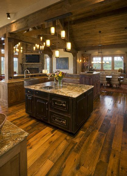 love  dark stain   cabinets granite countertop  color  wood floor  stained