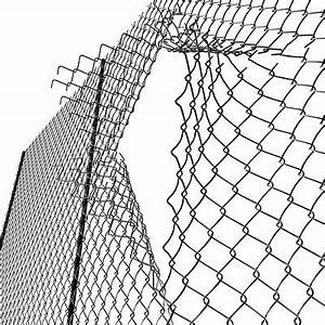 Metal Chain Fence Sketch