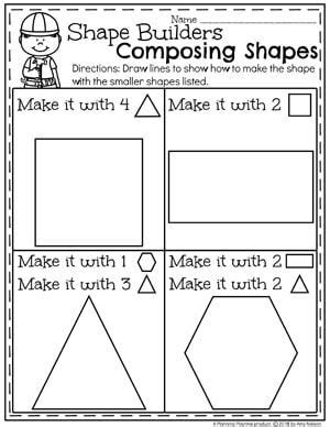 shapes worksheets 1st grade math shapes worksheets