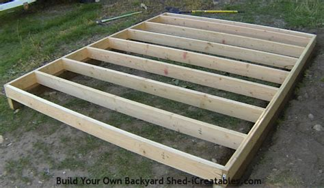 how to frame a floor how to build a shed storage shed building