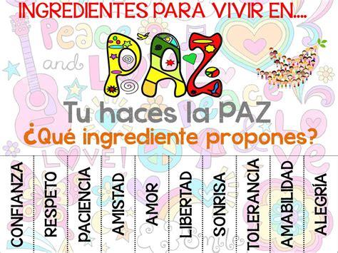 imagenes de afiches publicitarios de la paz ingredientes para vivir en paz power point a3 estilo
