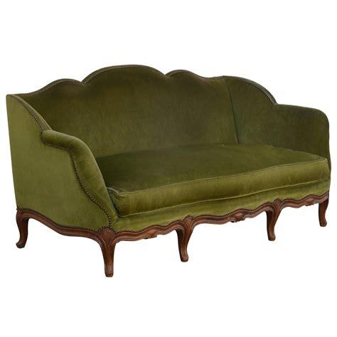 green sofas for sale elegant french 1940s louis style green velvet sofa for