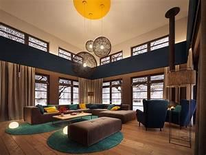 Tapis Rond Bleu Canard : deco salon bleu petrole canard accueil design et mobilier ~ Teatrodelosmanantiales.com Idées de Décoration